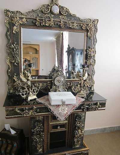 قیمت میز آینه و شمعدان